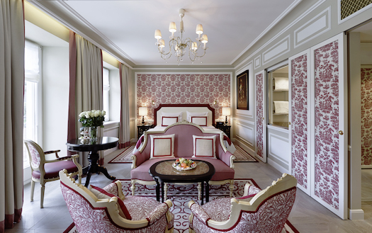 Burgandy suite at Sacher Salzburg