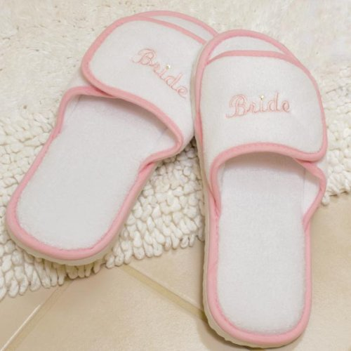Bride slippers for spa's
