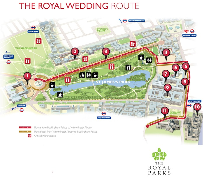 The Royal Wedding Route