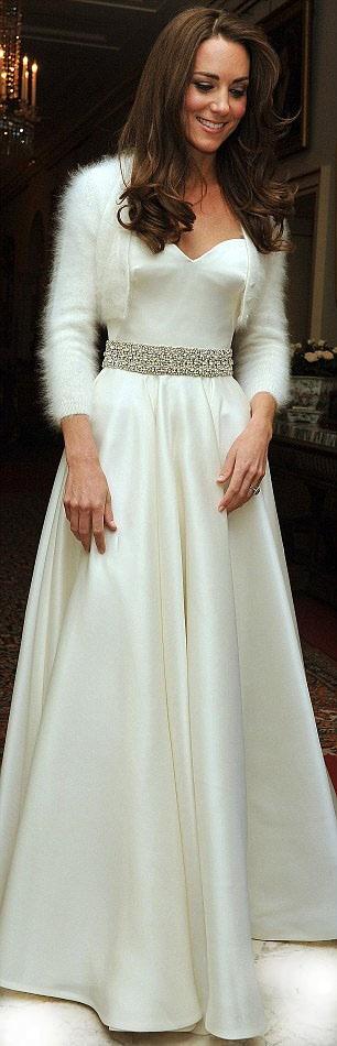 kate middleton reception dress