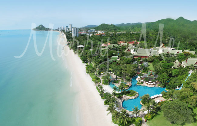Aerial View-Pools-Hyatt-Thailand