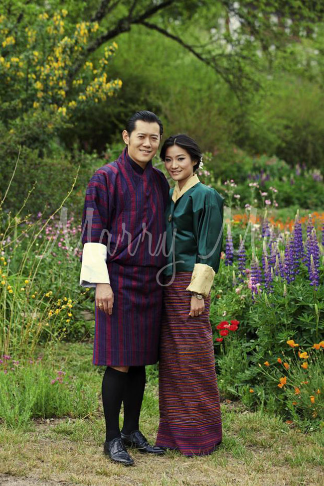 King of Bhutan & fiance