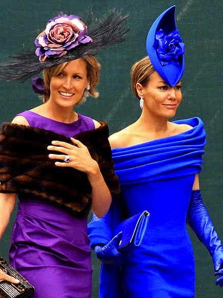 Tara Palmer & santa Monte fiore at Royal wedding