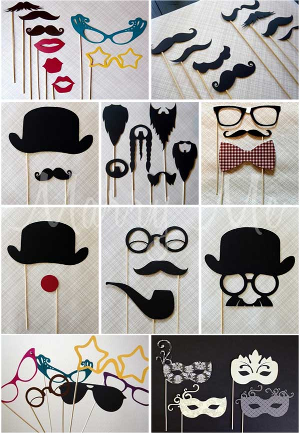 wedding photo booth prop ideas