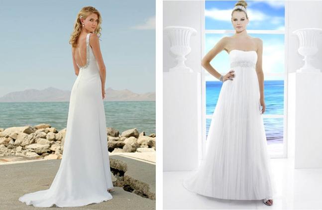 beach wedding gowns