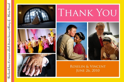 wedding stationery - photo thank you card