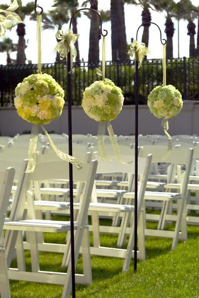 flower balls wedding