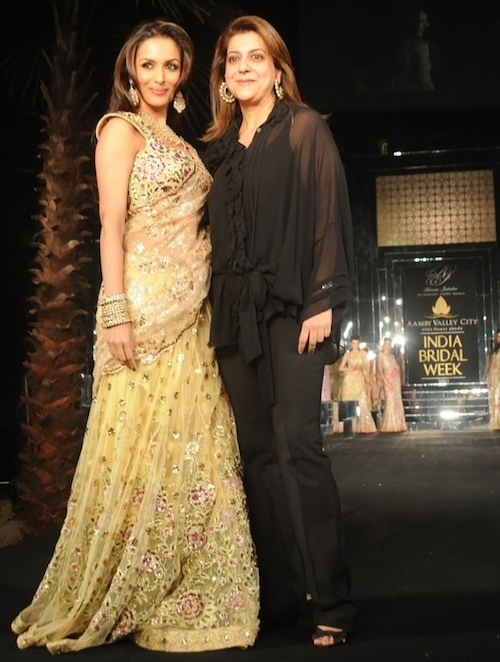 Bhairavi Jaikishan and Malaika Arora Khan at Bridal Week