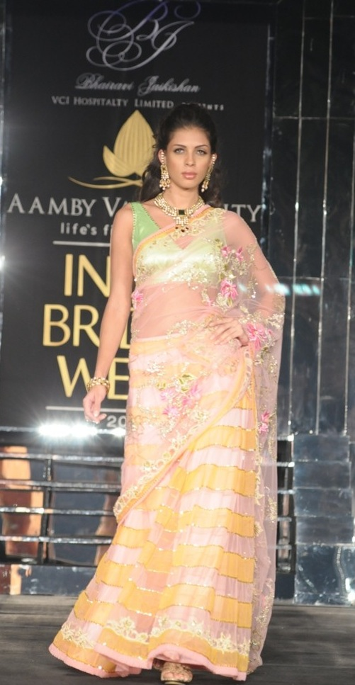 Model in Bhairavi Jaikishan at Aamby Valley Bridal Week