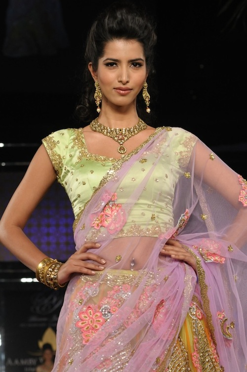 Model in Bhairavi Jaikishan at India Bridal Week