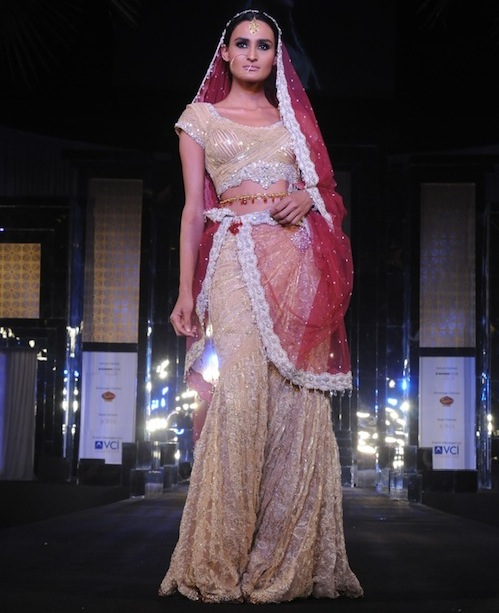Model in Rocky S bridal wear