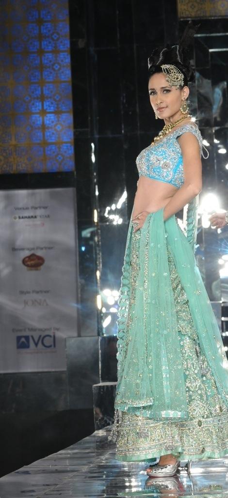 Model in bridalwear by Neeta Lulla
