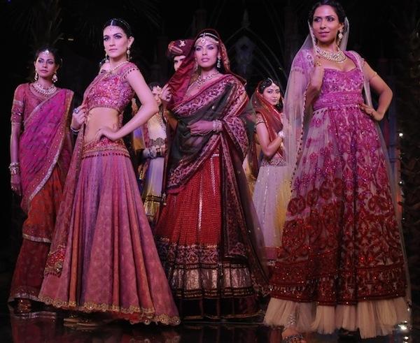 Models in Tarun Tahiliani at India Bridal Week