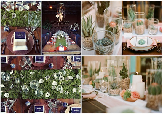 Flowers are lovely to use for wedding centerpieces but you can create some