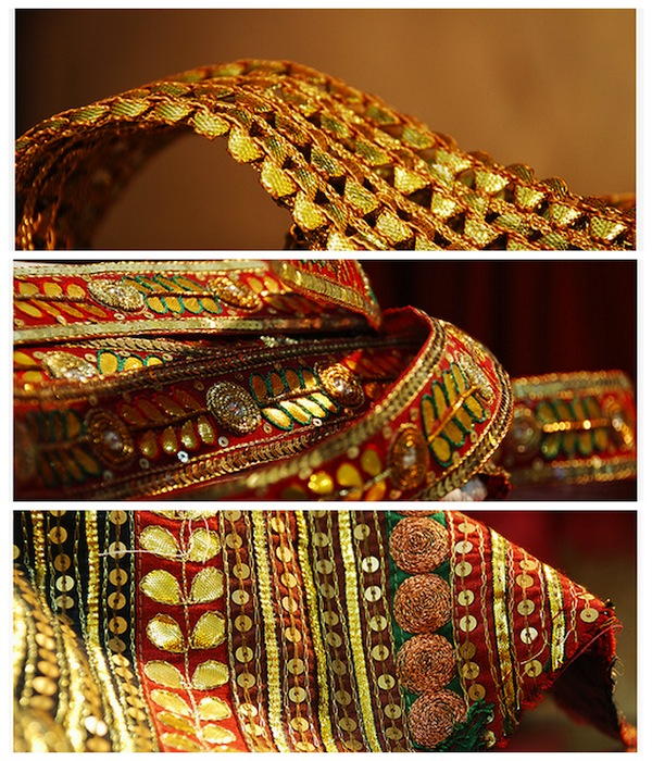 Gota embroidery used for wedding outfits