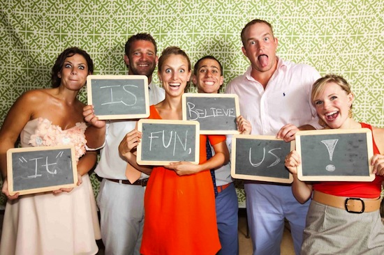 Photo-booth at wedding