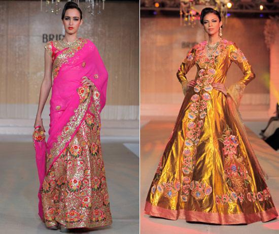 floral prints on Indian bridal wear