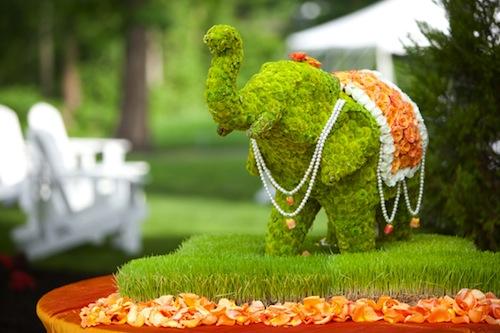 Flower Elephant Used At Indian Wedding