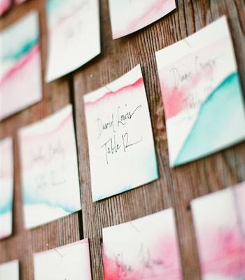 ombre wedding invites