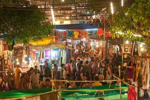 Saturday night market in Goa