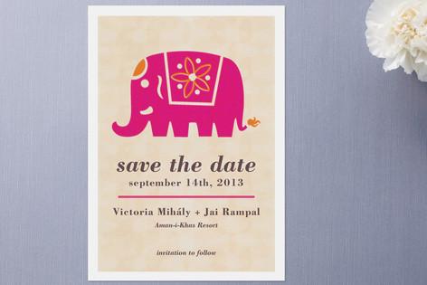 wedding card with elephant
