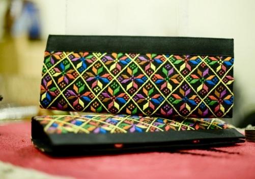 phulkari embroidery on bags