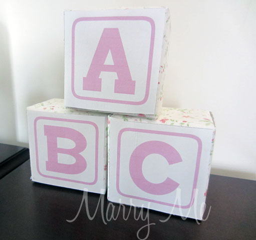 abc blocks for baby shower