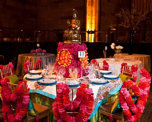 budda inspired formal Indian wedding dinner