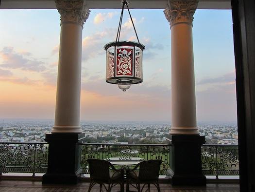 Hyderababd city view from Taj Falaknuma Palace