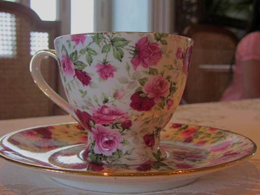Tea set for Tea ceremony at Falaknuma Palace
