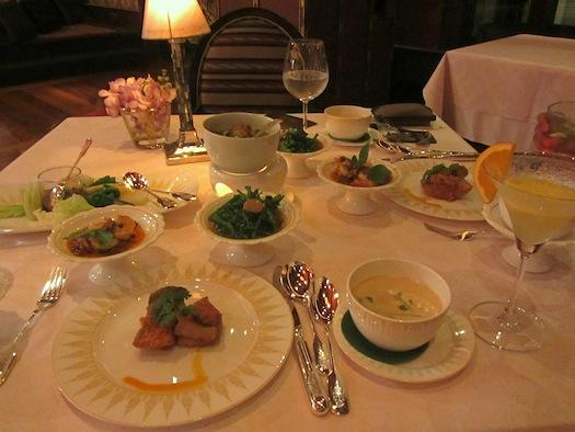 Dinner at Sala Rim Naam inside Mandarin Oriental