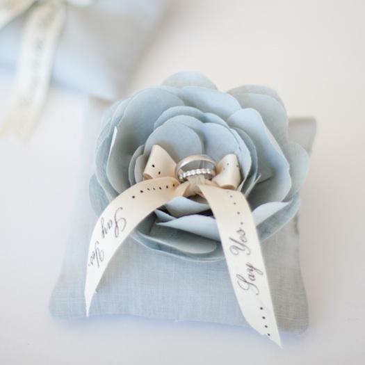 blue ring pillow