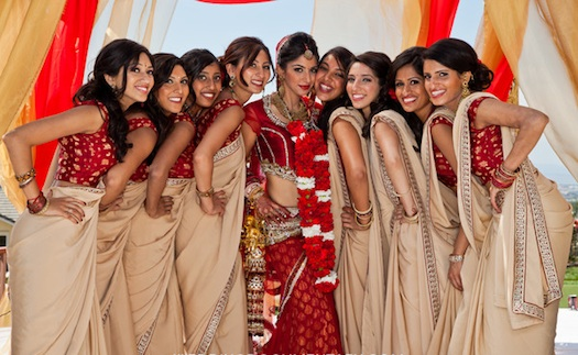 Bridesmaids At An Indian Wedding