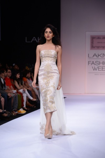 Day two of Lakme Fashion Week Winter Festive 2013, began with the young designer Shehlaa Khan's collection at LFW