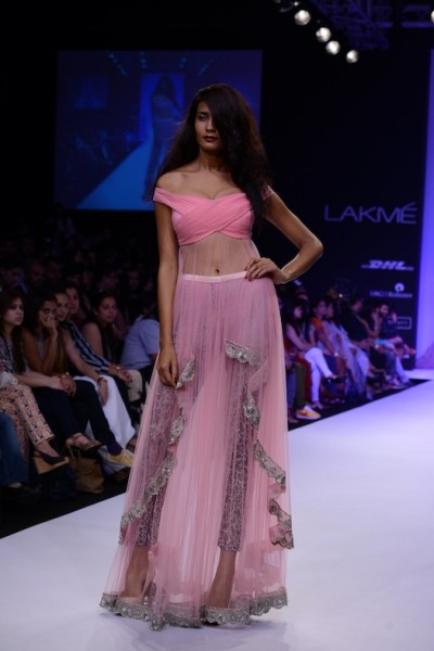 young designer Shehlaa Khan's collection at LFW