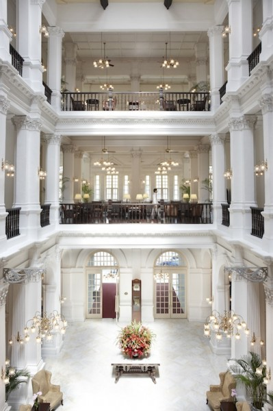 Lobby of the Raffles Hotel Singapore