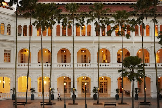 Raffles Hotel Singapore - Palm Court in the Evening