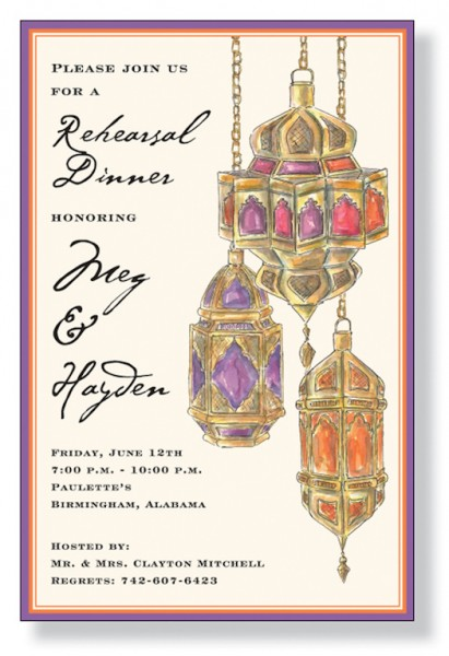 arabian themed sangeet invite
