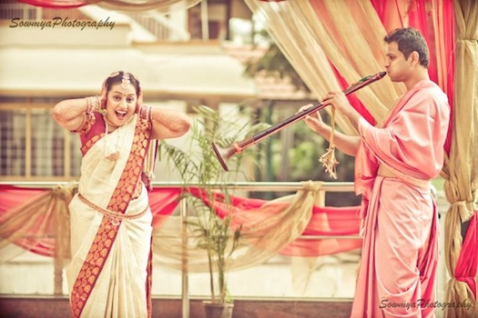 south Indian funny bride