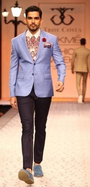 Model walks the ramp for Troy Costa