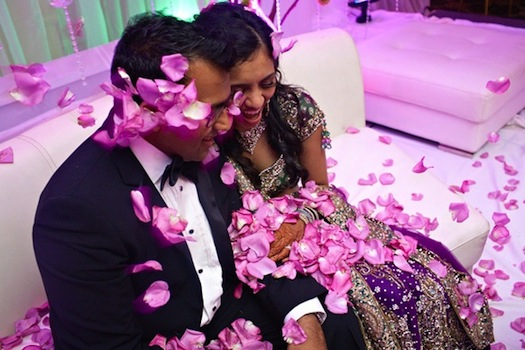 flower shower - Indian wedding