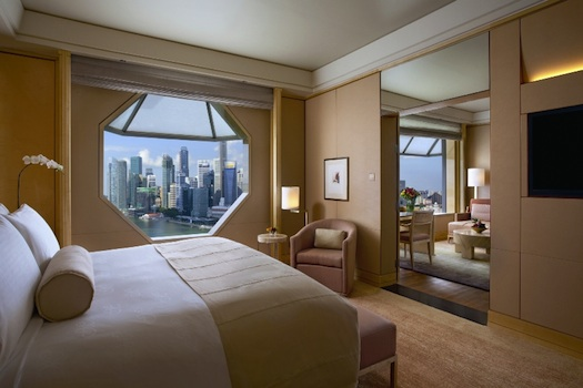 Bedroom of Premier Suite at Ritz Carlton Millena Singapore