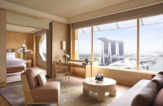 Premier suite at Ritz Carlton Singapore