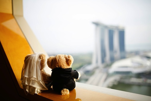 Wedding bears at Ritz Carlton S9ngapore