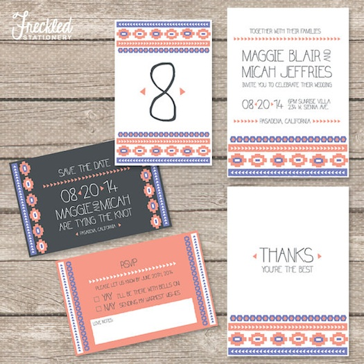 Ikat designs used for Indian wedding invitations