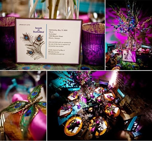 Peacock Theme Indian Wedding Reception by Marry Me