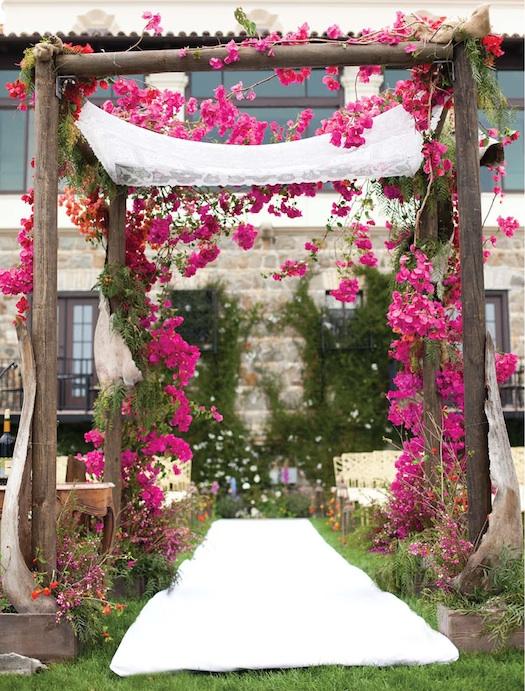 summer theme floral mandap