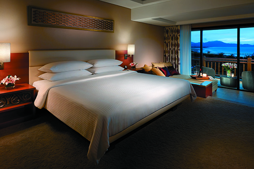 A Garden Wing Deluxe Sea View Room at the resort