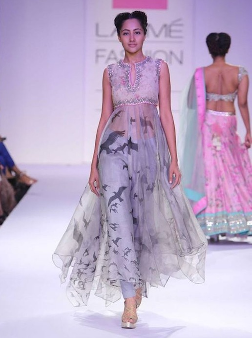 Anushree Reddy Lakme Fashion week bird themed