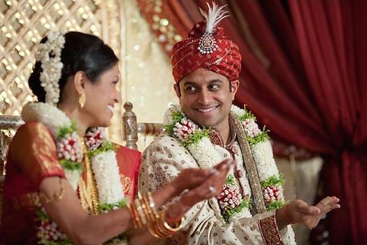 Indian wedding varmala ceremony